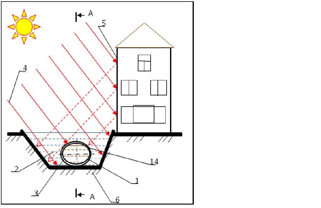 Схема гелиометантенк-реактора